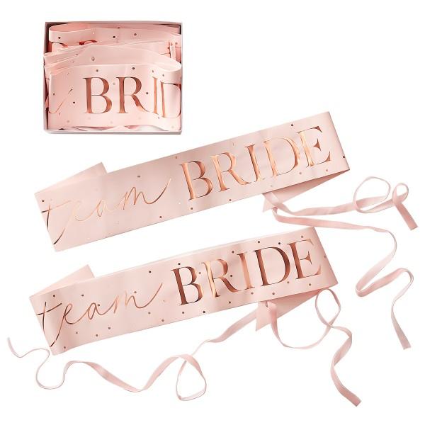 Blush Party Team Bride Schärpe 6 Stück
