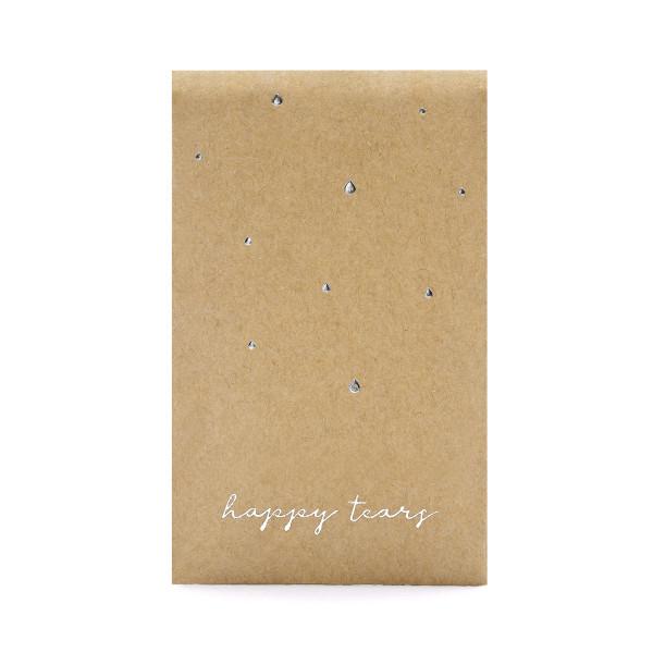 Taschentücher im Flachbeutel 'Happy Tears' (10 Sets) - silber