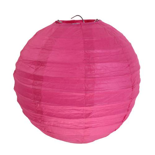 Laterne / Lampion rund 20 cm - pink (2 Stück)