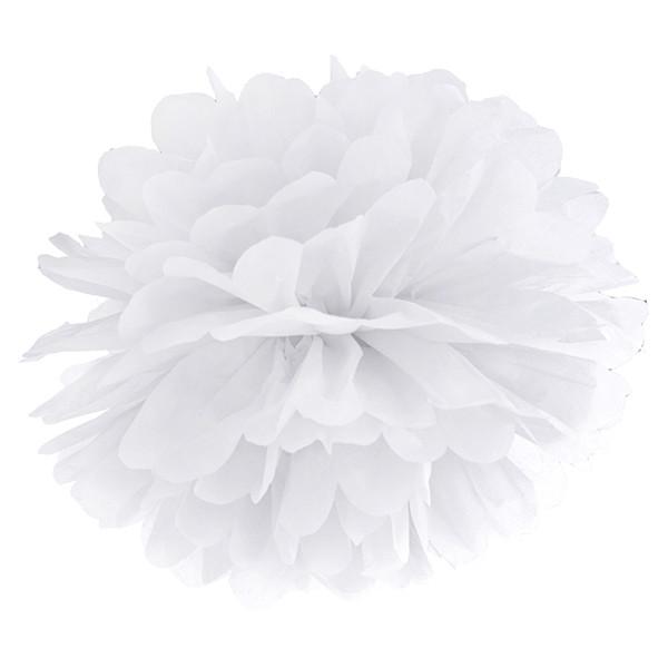 Pompom 35 cm weiß