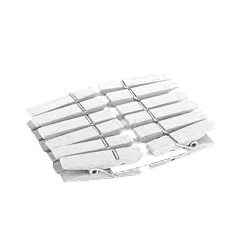 Klammern (12 Stück) - weiß