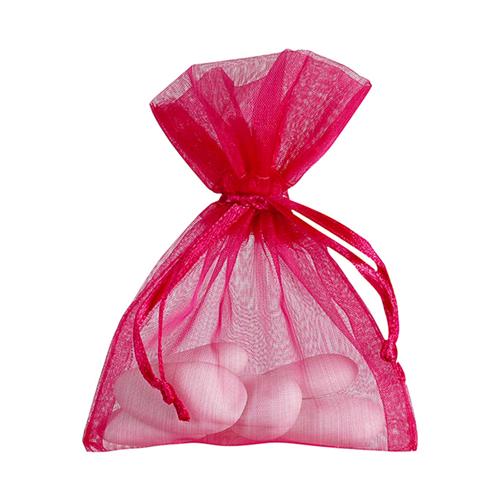 Organzasäckchen 7,5 x 10 cm pink (10 Stück)