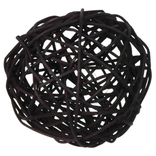 Rattankugeln (10 Stück) 3, 4 & 7 cm - schwarz