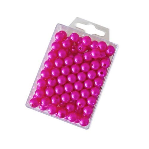Dekoperlen zum Fädeln Pink 10 mm 115 Stück