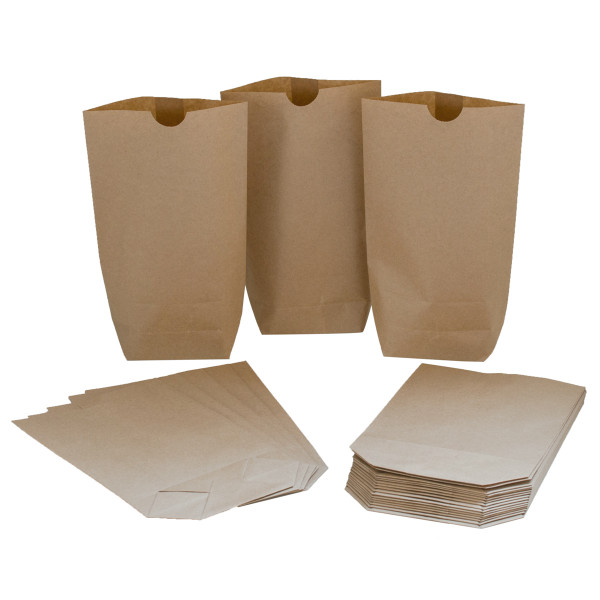 24 Bodenbeutel / Tüten Kraftpapier 14 x 22 cm