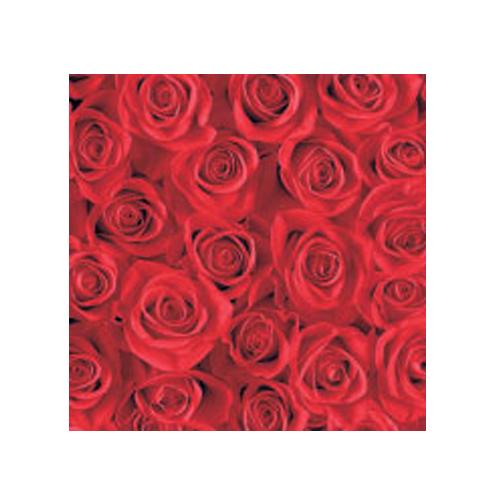 Cocktailservietten Rosen (20 Stück) - rot