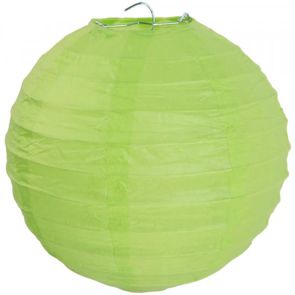 Laterne / Lampion rund 30 cm - hellgrün (2 Stück)