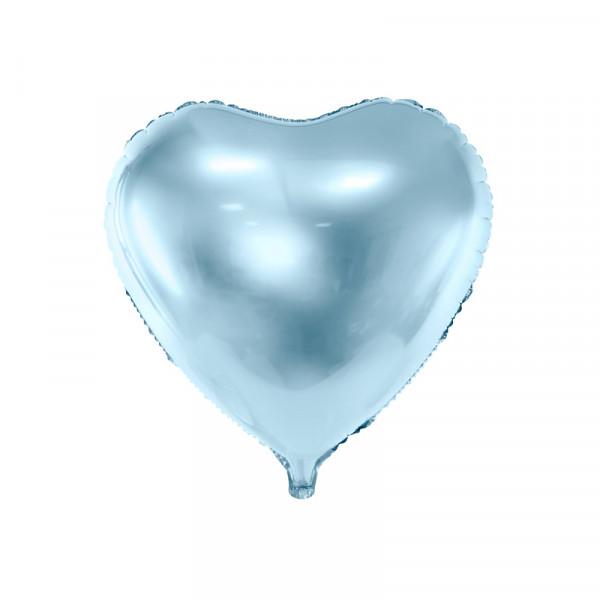 Folienballon Herz 45 cm - hellblau
