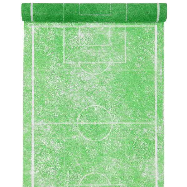 Tischläufer Fußball 30 cm x 10 m - grün