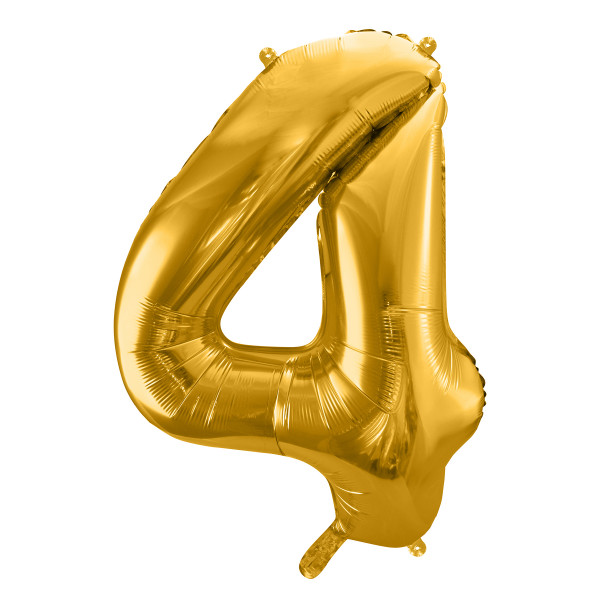 Folienballon '4' 86 cm - gold