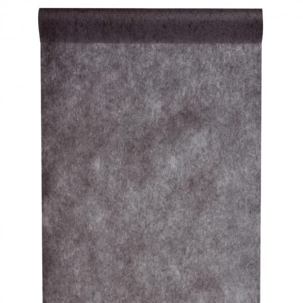 Tischläufer Vlies 30 cm x 10 m - schwarz