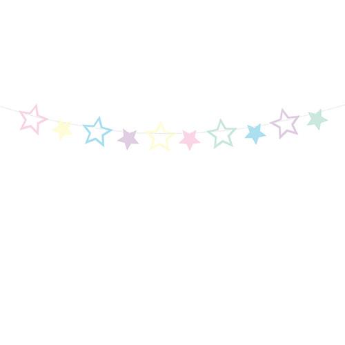 Einhorn Party Girlande Sterne 1,4 m