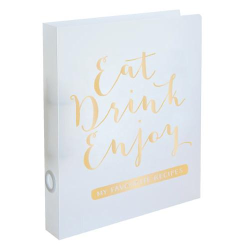 Rezeptordner / Rezeptbuch 'Eat Drink Enjoy' DIN A4 - gold