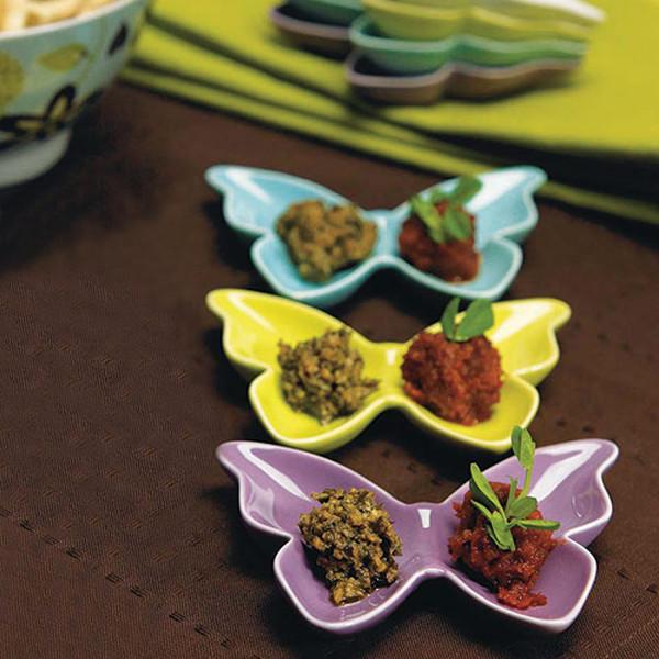 Schmetterling-Schale 11 x 8,5 cm - flieder
