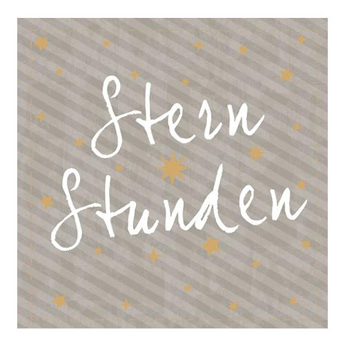 Servietten 'Sternstunden' (20 Stück) - taupe