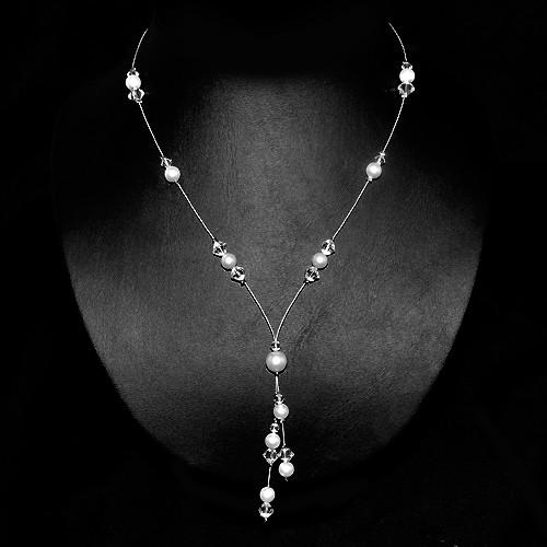 Halskette 'Candela' mit Perlen & Glasperlen
