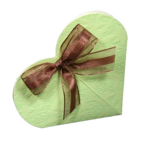 Kartonage 'Herz' Sorgente - hellgrün