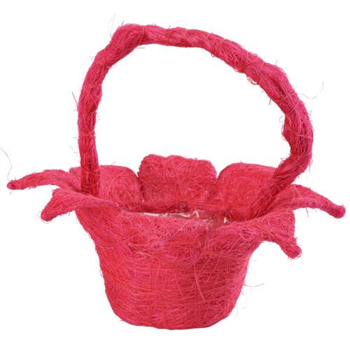 Streukörbchen 'Blume' Sisal - pink