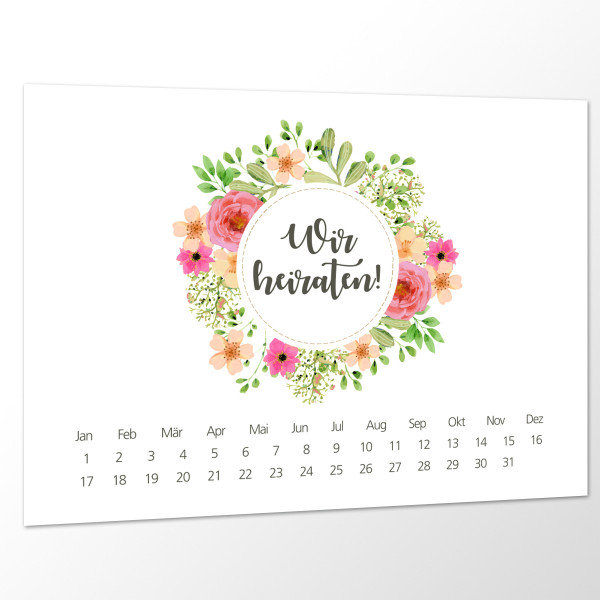 Save the Date Karte Hochzeit - Blooming Love