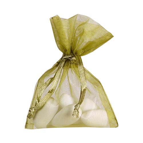 Organzasäckchen 7,5 x 10 cm oliv (10 Stück)