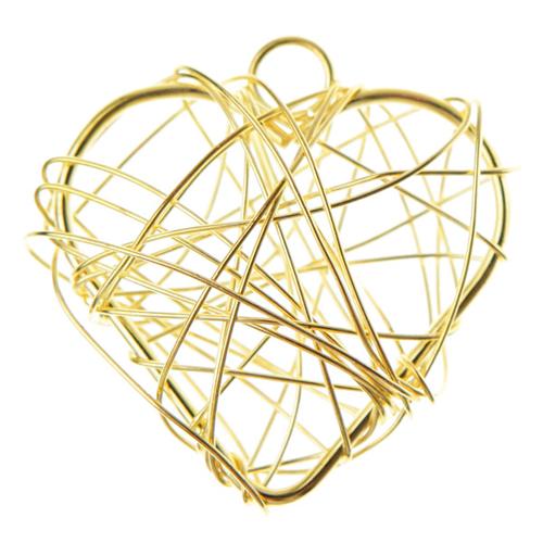Anhänger 'Herzen' (6 Stück) - gold