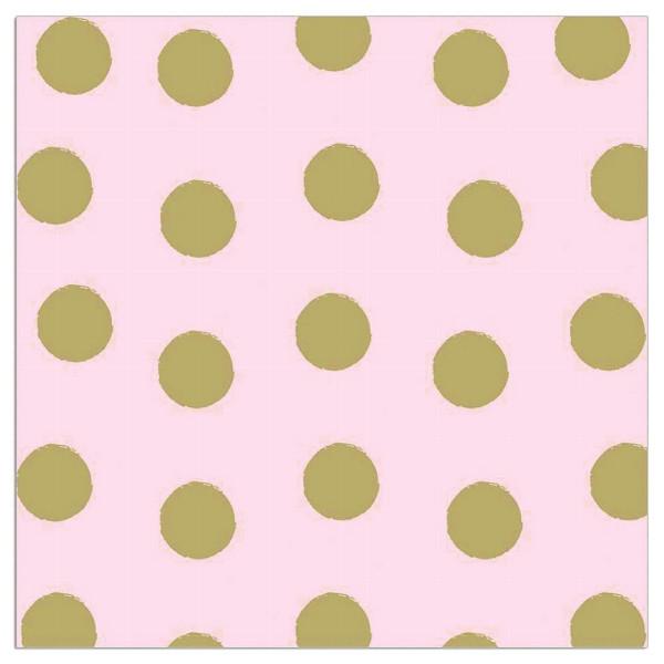 Servietten Punkte (20 Stück) - rosa & gold