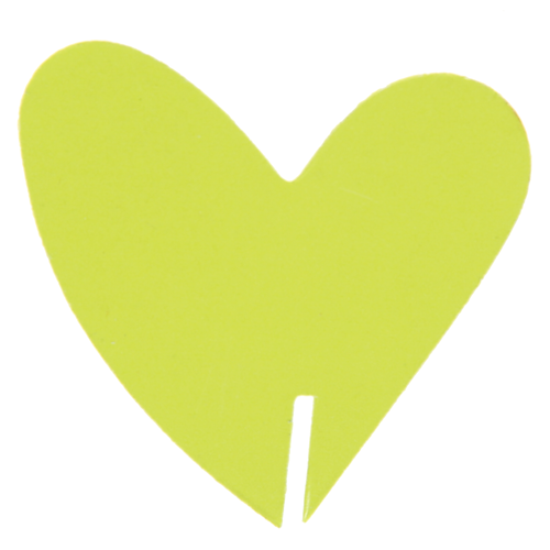 Tischkärtchen für Gläser 'Herz' (10 Stück) - hellgrün