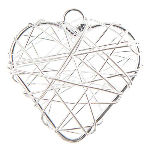 Anhänger 'Herzen' (6 Stück) - silber