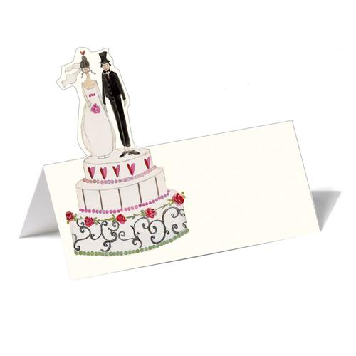 Silke Leffler Tischkarte 'Hochzeitstorte' (1 Stück)