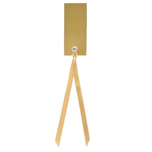 Tischkärtchen mit Satinband (12 Stück) - gold