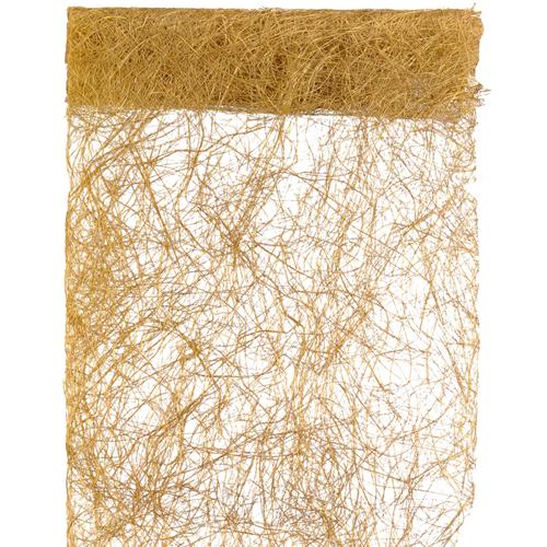 Tischläufer Abaca 30 cm x 5 m - gold