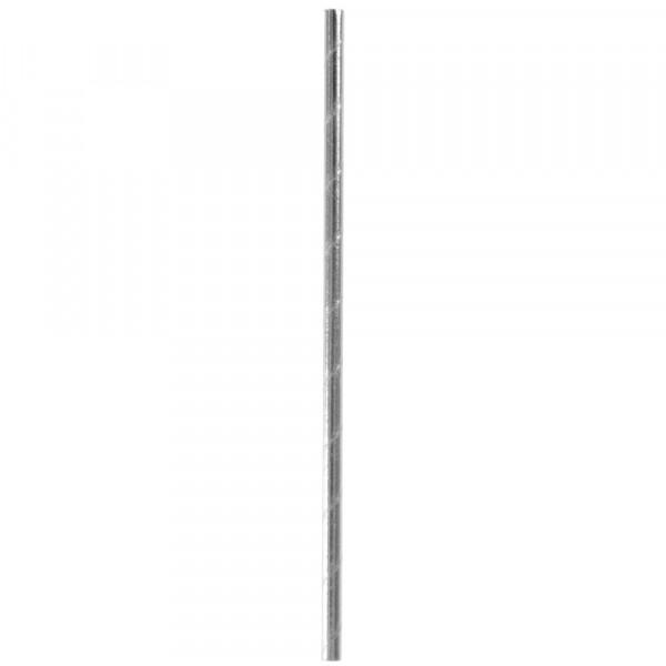 Strohhalme / Trinkhalme 'Metallic' (20 Stück) - silber