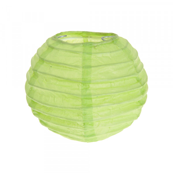 Laterne / Lampion rund 10 cm - hellgrün (2 Stück)