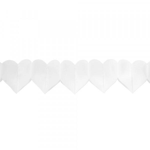Girlande 'Herz' 3,25 m - weiß