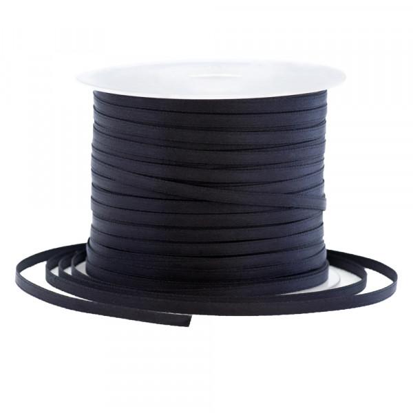 Satinband 3 mm x 100 m - schwarz