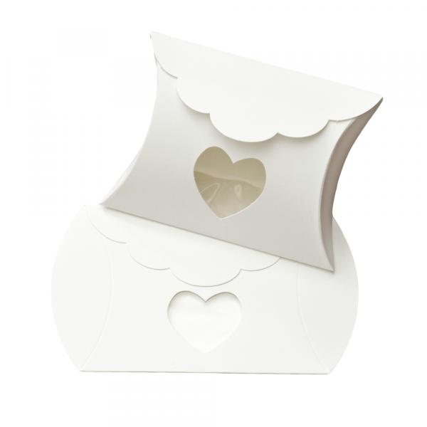 Kartonage 'Busta' Herz - weiß