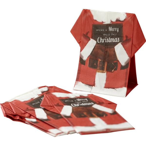 Servietten Weihnachtsmann (12 Stück) - rot