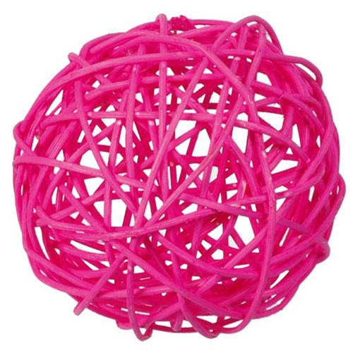 Rattankugeln (10 Stück) 3, 4 & 7 cm - pink