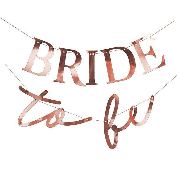 Blush Party Girlande BRIDE to be - roségold 1,5 m