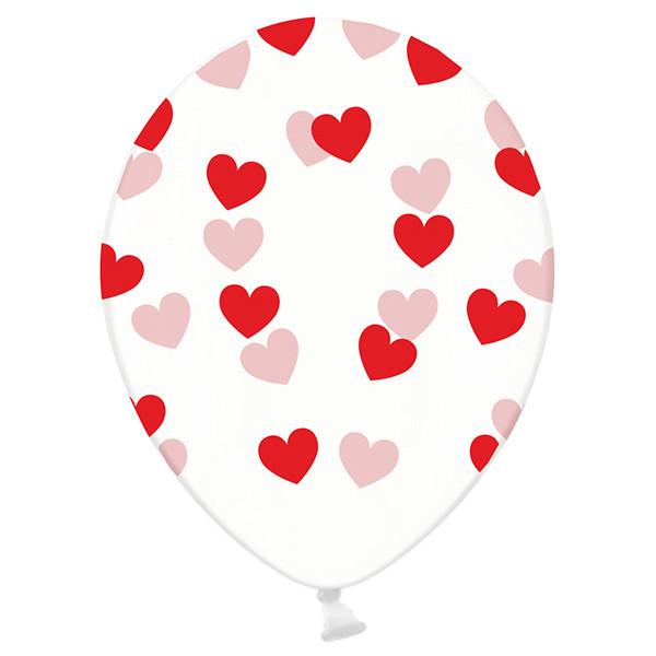 Luftballons Herzen (6 Stück) - rot