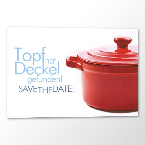 Save the Date Karte Hochzeit - Topf und Deckel