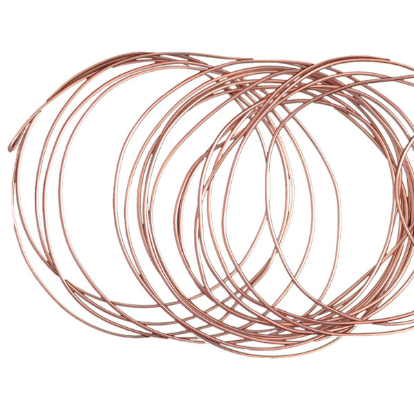 Basteldraht / Dekodraht 2 mm rund 12 m - Roségold