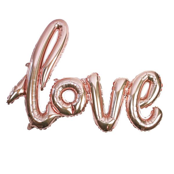Folienballon 'Love' 55 cm x 75 cm - roségold
