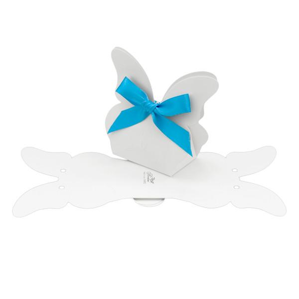 Kartonage 'Borsa' Schmetterling - weiß
