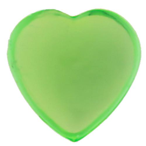 Herz-Strasssteine, selbstklebend (36 Stück) - hellgrün