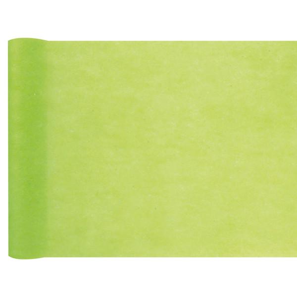 Tischläufer Vlies 30 cm x 25 m - hellgrün