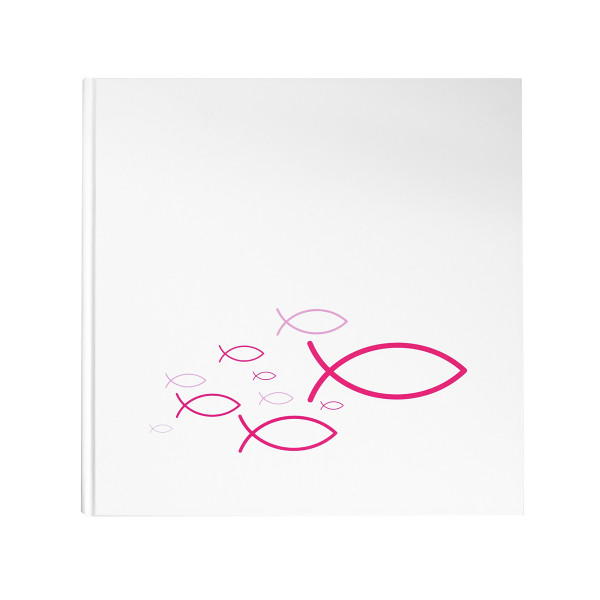 Gästebuch Fische Ichthys pink / rosa