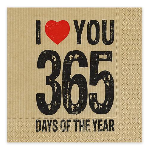 Servietten I love you 365 Days (20 Stück)