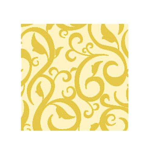 Cocktailservietten Ornament (20 Stück) - creme & gold