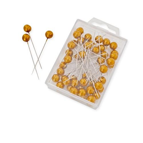 Perlkopf Dekonadeln Gold 10 mm 50 Stück